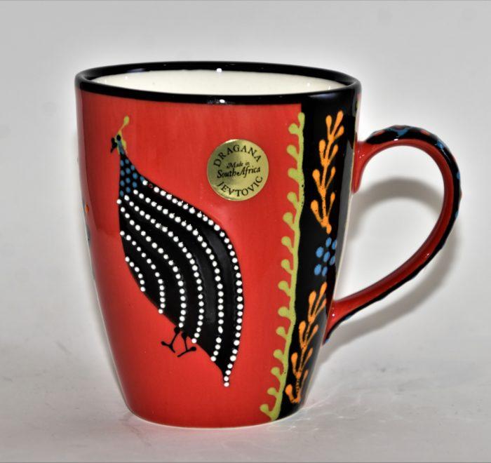 Ntaba African Coffee Mugs - Red